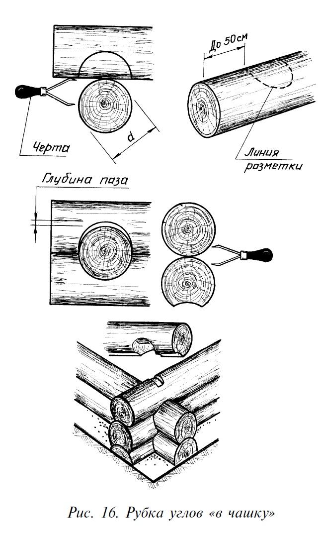 Как срубить сруб своими руками в чашу